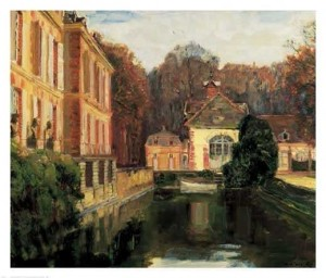 tableau des douves du château de Bréau